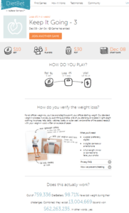 dietbet helps yuo to get paid for losing weight