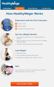 healthwage weight lose app that pay to exercise